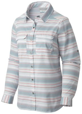 Columbia Women's Pilsner Peak Stripe LS Shirt