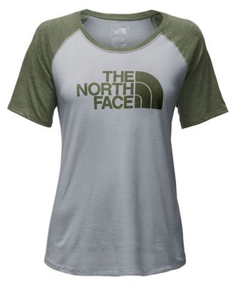 The North Face Women's Half Dome Graphic Tri-Blend SS Baseball Tee