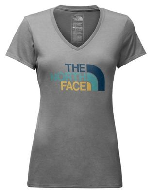The North Face Women's Half Dome V-Neck Tri-Blend SS Tee