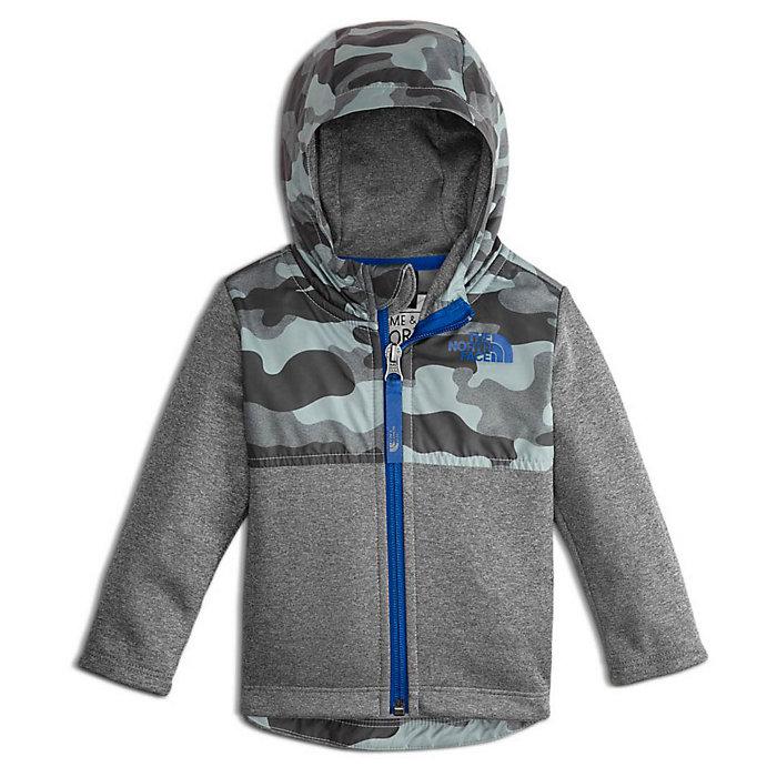 The North Face Kids Boy Mid Grey Camo Print Kickin It Hood Jacket US Small 7//8