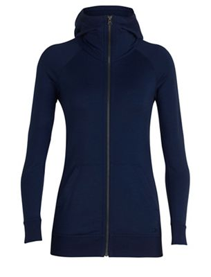 Icebreaker Women's Crush LS Zip Hood Top