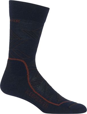 Icebreaker Men's Hike+ Light Crew Intersecting Arrows Sock
