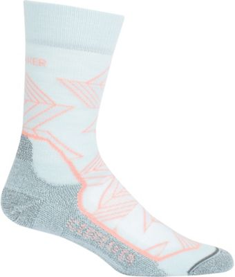 Icebreaker Women's Hike+ Light Crew Intersecting Arrows Sock