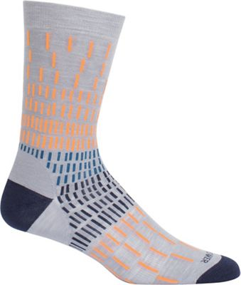 Icebreaker Lifestyle Fine Gauge Ultra Light Colorful Rain Crew Sock