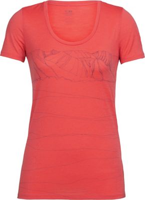 Icebreaker Women's Tech Lite Paths SS Scoop Neck Top