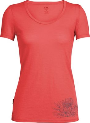 Icebreaker Women's Tech Lite Ice Plant SS Scoop Neck Top