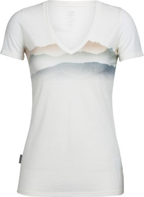 Icebreaker Women's Tech Lite Misty Horizon V-Neck Top
