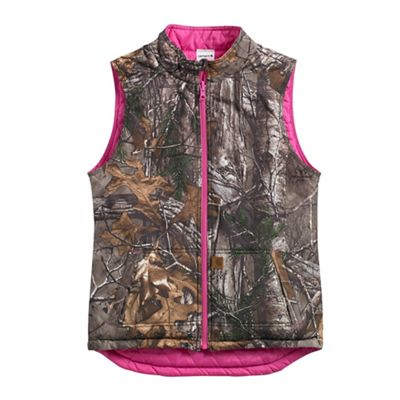 Carhartt Girls' Reversible Camo Vest