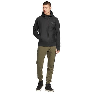 Timberland Men's Weir River FZ Mixed Media Hoodie