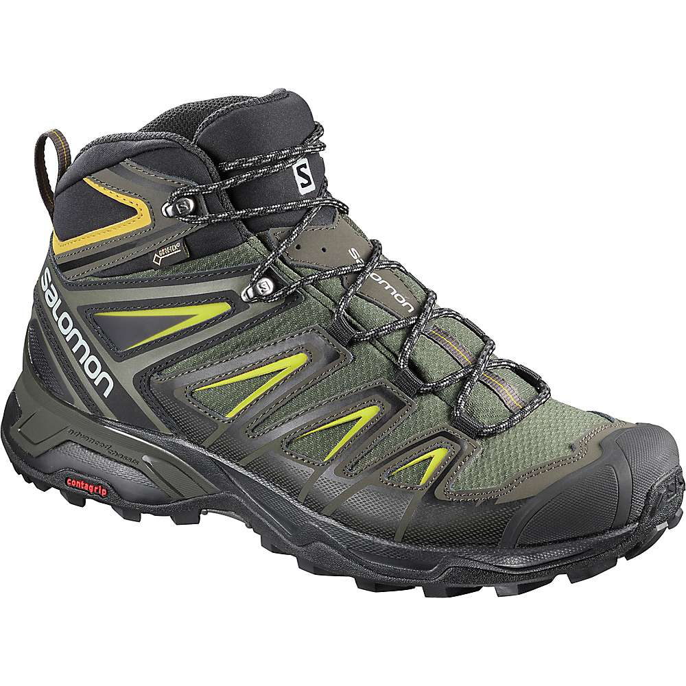X ULTRA 3 MID GTX - Walking boots - castor gray/black/green sulphur