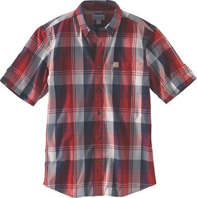 Carhartt Men's Essential Plaid Button Down SS Shirt