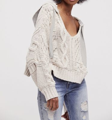 Free People Women's Tierra Cable Hoodie