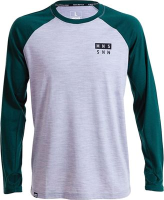 Mons Royale Men's Coreshot Raglan LS Wool Thermal Top