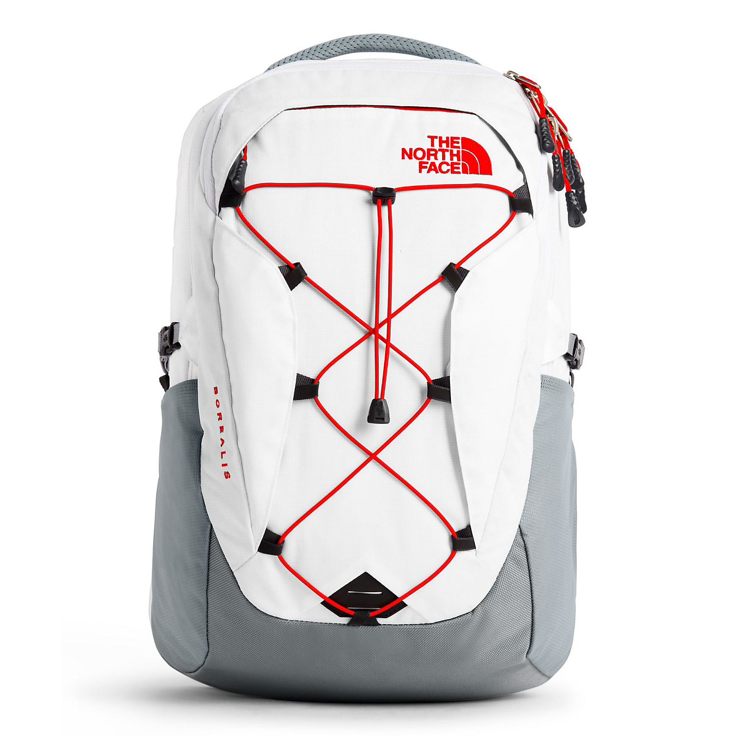 THE NORTH FACE Men/'s Borealis Backpack TNF Black Heather//Biking Red One Size