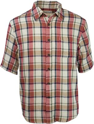 Purnell Men's Double Sided Plaid Button Up SS Shirt