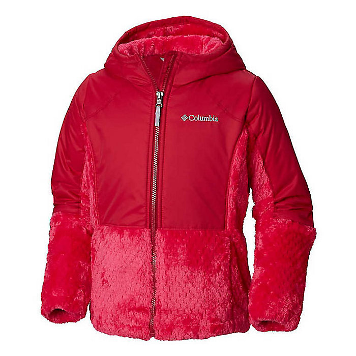 697cea2c5d6 Columbia Youth Girls Fluffy Fleece Hybrid Full Zip Jacket - Moosejaw