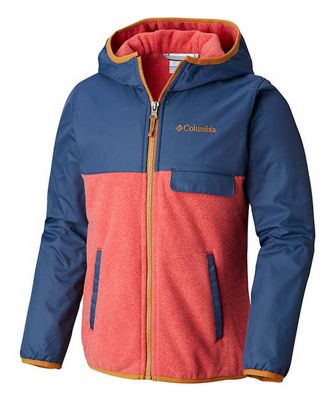 Columbia Youth Boys Mountain Side Overlay Full Zip Fleece Hoodie