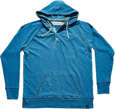 The Normal Brand Men's Lightweight Slub Henley Hoodie