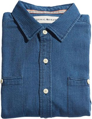 The Normal Brand Men's V Weave Button Up Shirt