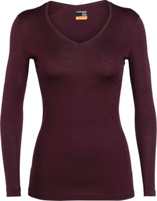 Icebreaker Women's 200 Oasis LS V Neck Top