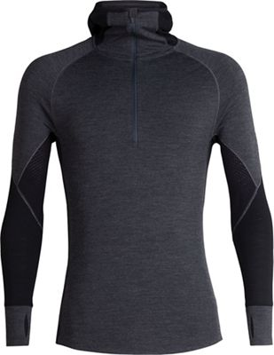 Icebreaker Men's 260 Zone LS Half Zip Hooded Top