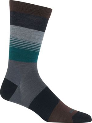 Icebreaker Men's Lifestyle Ultralight Cushion Gradient Stripe Crew Sock