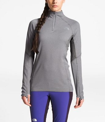 6409d765c73 The North Face Women s Purna FD 1 4 Zip Top. GREY  BLACK  WHITE
