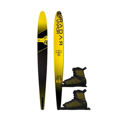 Radar Men's Graphite Vapor 67IN Water Ski with Double BOA Yellow Vector Boots Package