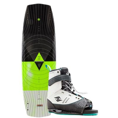 Hyperlite Baseline 141cm Wakeboard with Focus Boots Package