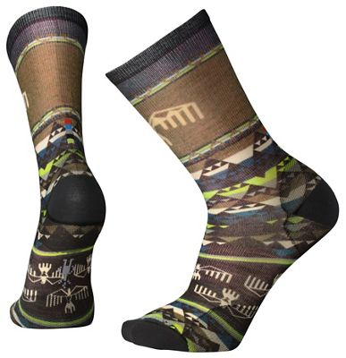 Smartwool Men's Bird Geo Printed Crew Sock