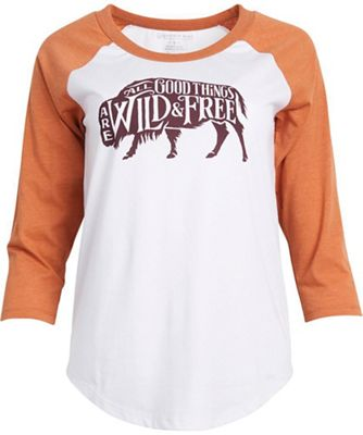 United By Blue Women's Wild & Free 3/4 Baseball Tee