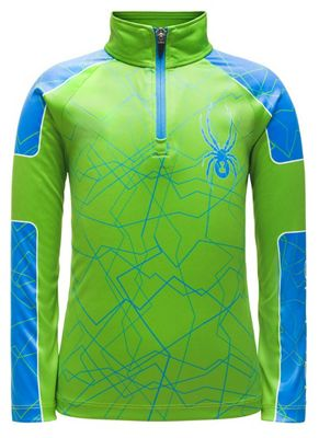 Spyder Boys' Mini Limitless Challenger Zip T Neck Top