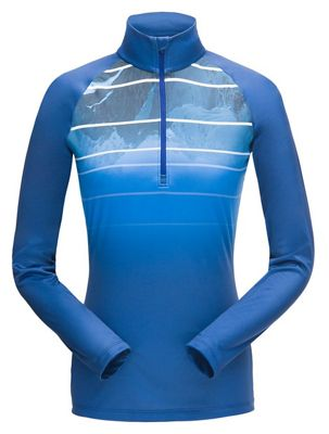 Spyder Women's Showcase MTN Fade Zip T-Neck Top