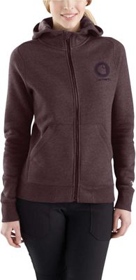 Carhartt Women's Force Delmont Graphic Zip-Front Hooded Sweatshirt