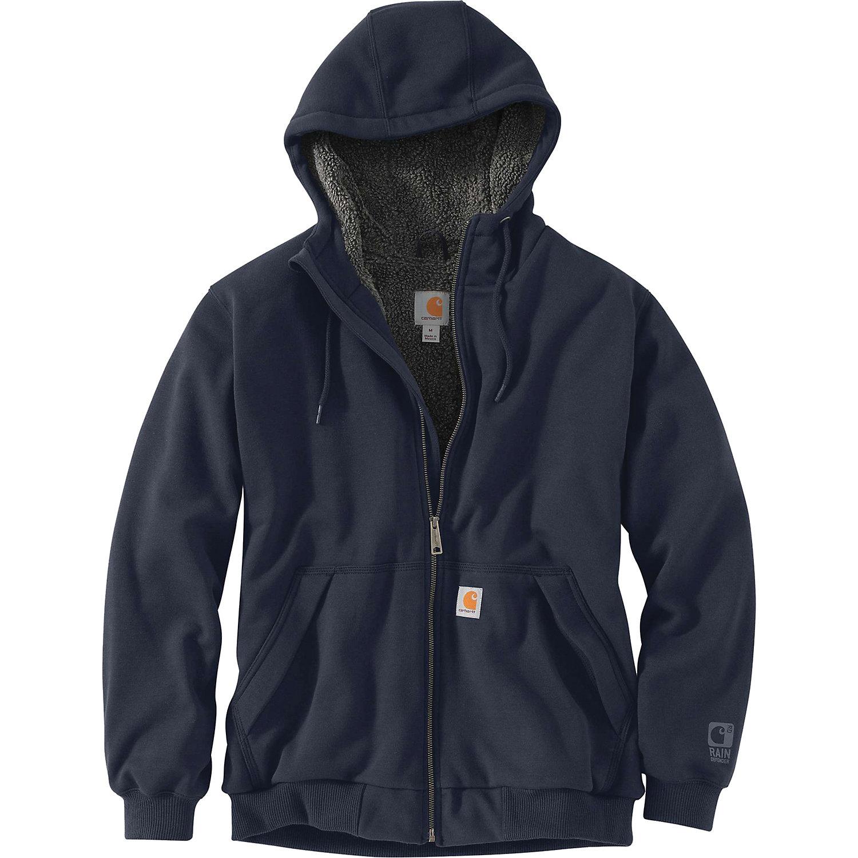 ID Mens Worker Full Zip Sherpa Hoodie