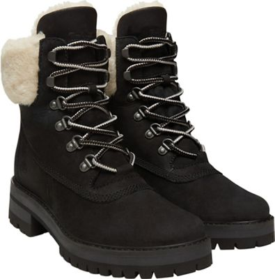 Timberland Women's Courmayeur Valley 6 Inch with Authentic Shearling Lining Boot