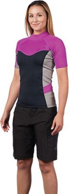 Level Six Women's Sombrio SS Neoprene Rashguard Top