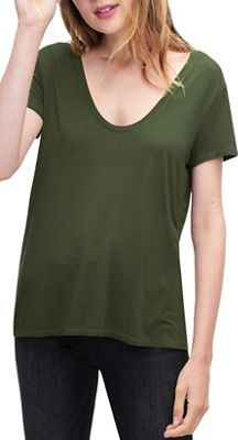 Splendid Women's Deep U Neck Tee