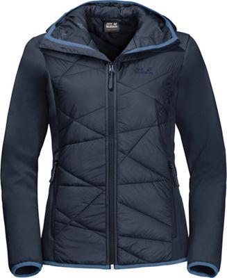 b56878a28 Jack Wolfskin Women's Grassland Hybrid Hooded Jacket
