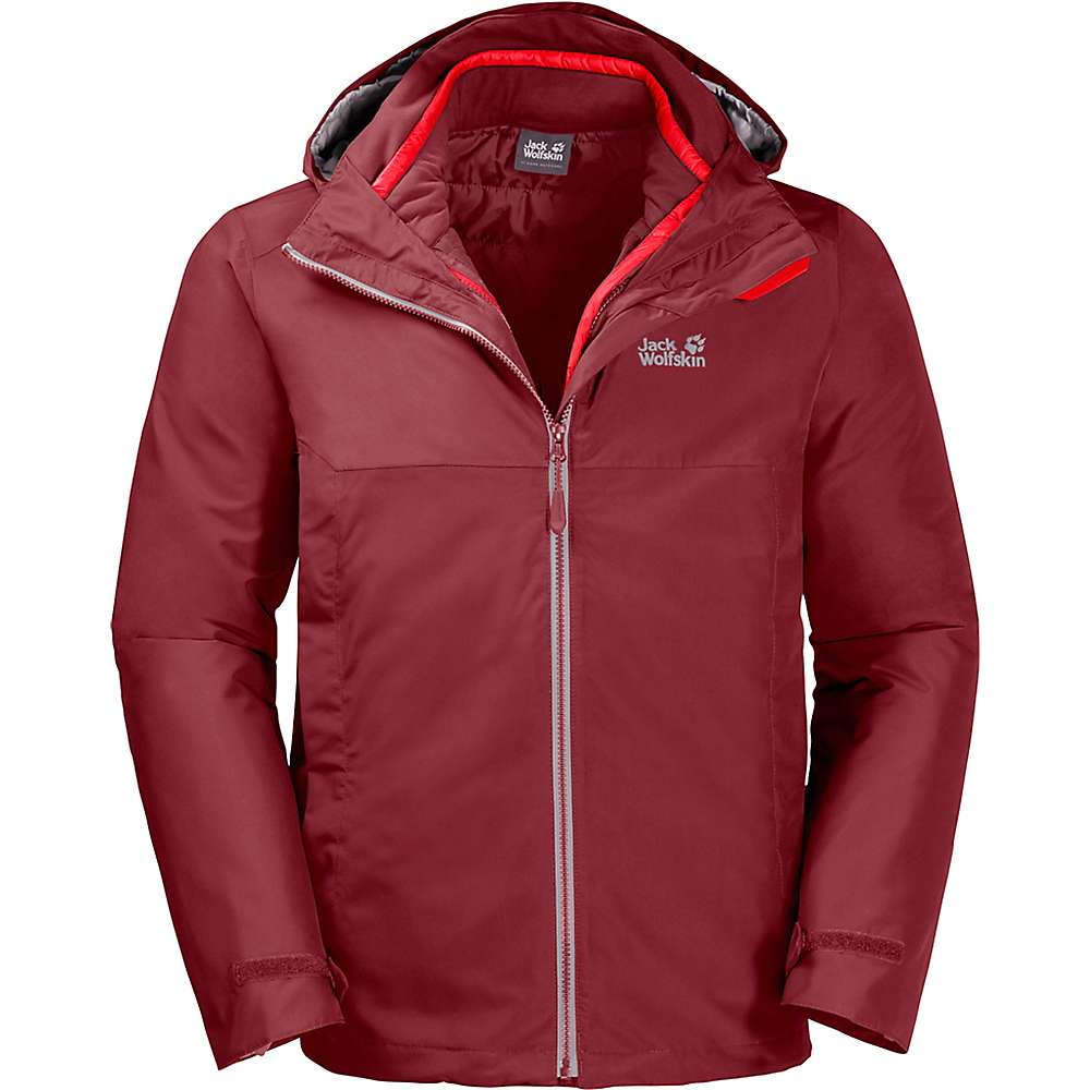 new concept a1700 c40b0 Jack Wolfskin Men's North Fjord 3 in 1 Jacket