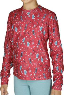 Hot Chillys Youth Fun Pepper Fleece Print Crewneck Top
