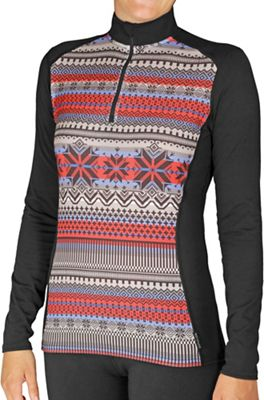 Hot Chillys Women's MTF4000 Sublimated Print Zip-T