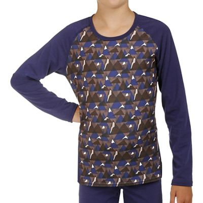Hot Chillys Youth Originals II Print Front Scoopneck Top