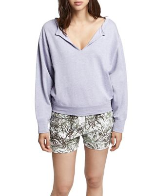 Sanctuary Women's Breslin Split Neck Sweatshirt