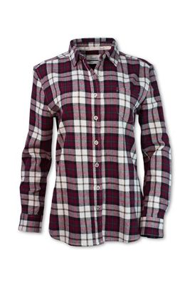 Purnell Women's Maroon Flannel LS Shirt