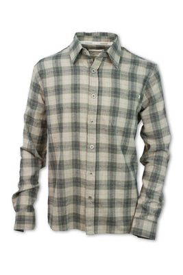 Purnell Men's Sage Plaid Button Up LS Shirt