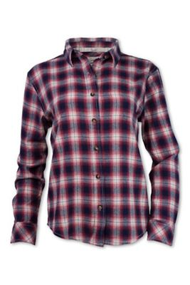 Purnell Women's Vintage Plaid Flannel LS Shirt