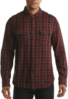 Jeremiah Men's Boulder Reversible Plaid with Stripe LS Shirt