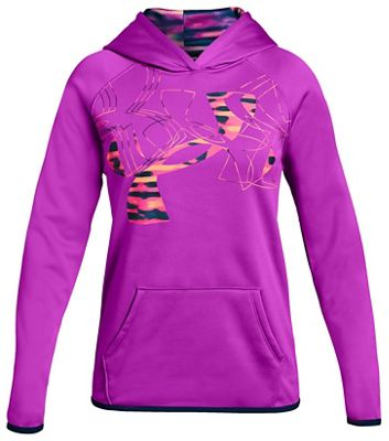 Under Armour Girls' Armour Fleece Printed Fill Logo Hoody
