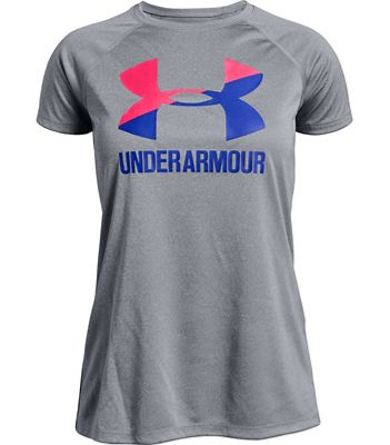 Under Armour Girls' Big Logo Solid SS Tee